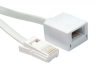 15m BT Extension Cable - Flat Cable (White) - 6 Way